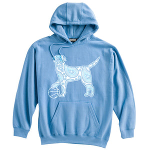 Dog with Basketball Heavyweight Hoodie