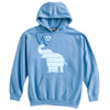 Elephant with Soccer Ball Soccer Heavyweight Hoodie