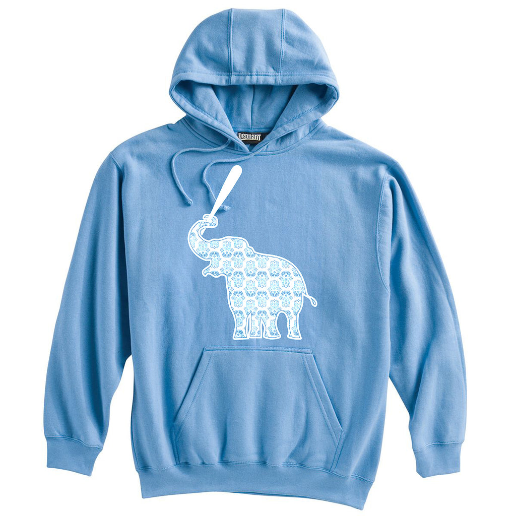 Elephant with Softball Bat Softball Heavyweight Hoodie