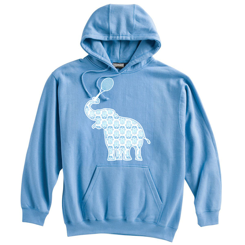 Elephant with Tennis Racquet Heavyweight Hoodie