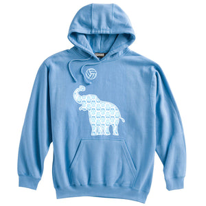 Elephant with Volley Ball Hoodie
