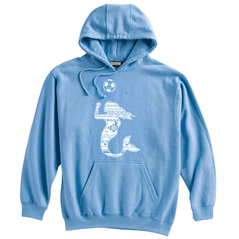 Mermaid with Soccer Ball Soccer Heavyweight Cotton Hoodie