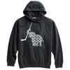 Elephant with Ice Hockey Stick Hockey Heavyweight Cotton Hoodie