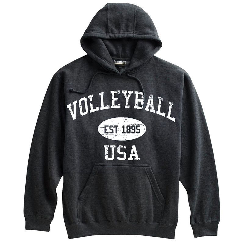 Volleyball Sweatshirt-Vintage Distressed Established Date USA