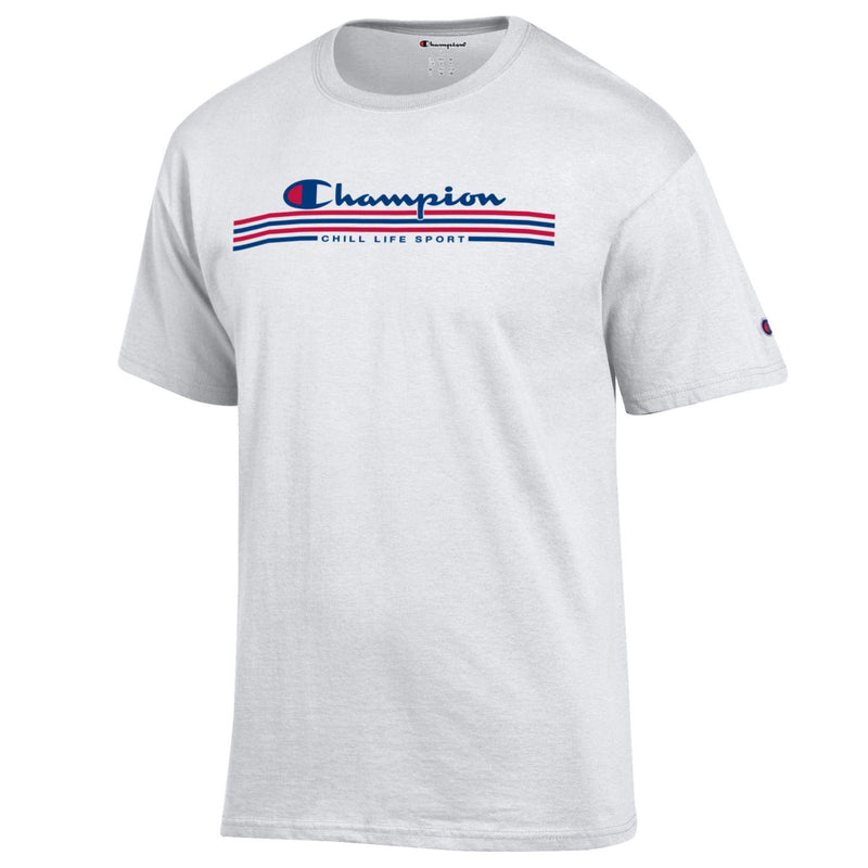 CHILL-LIFE AND CHAMPION LACROSSE TEE-CLICK TO SEE BACK PRINT