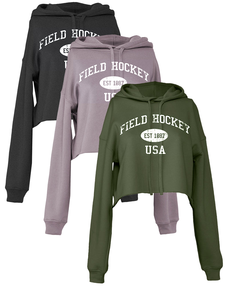 Cropped Field Hockey Hoodie Vintage USA