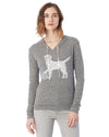 Dog with Volleyball Eco Jersey Pullover Hoodie Animal Sports Collection