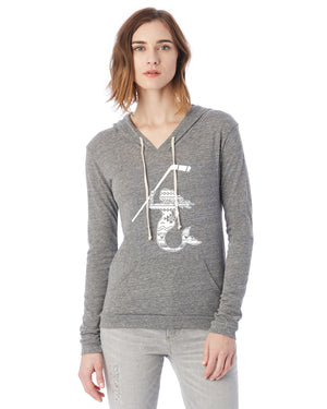 Mermaid with Hockey Stick Hockey Eco Jersey Pullover Hoodie Animal Sports Collection