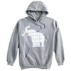 Elephant with Field Hockey Stick Field Hockey Heavyweight Hoodie