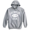 Lacrosse Sweatshirt-Vintage Distressed Established Date USA