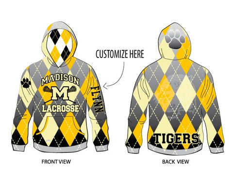 Sublimated hoodie with name