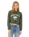 Cropped Basketball Hoodie Vintage USA