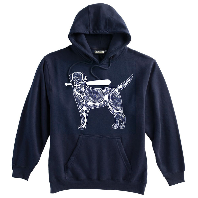 Dog with Softball Bat Softball Heavyweight Hoodie