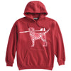 Dog with Oar Crew Heavyweight Hoodie