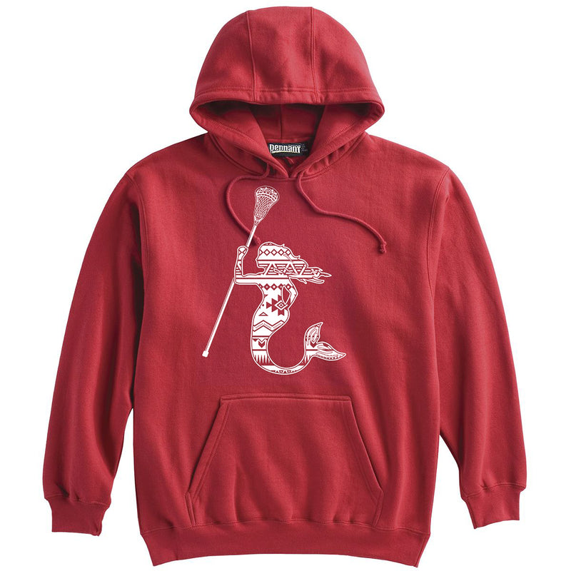 Mermaid with Lacrosse Stick Lacrosse  Heavyweight Hoodie