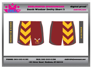 Custom South Windsor Girls Sublimated Shorts