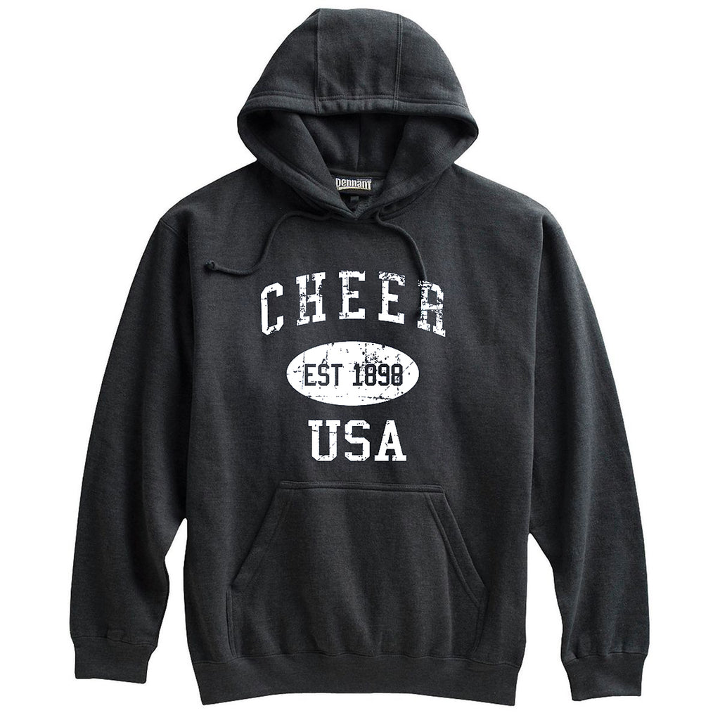 Cheer Sweatshirt-Vintage Distressed Established Date USA