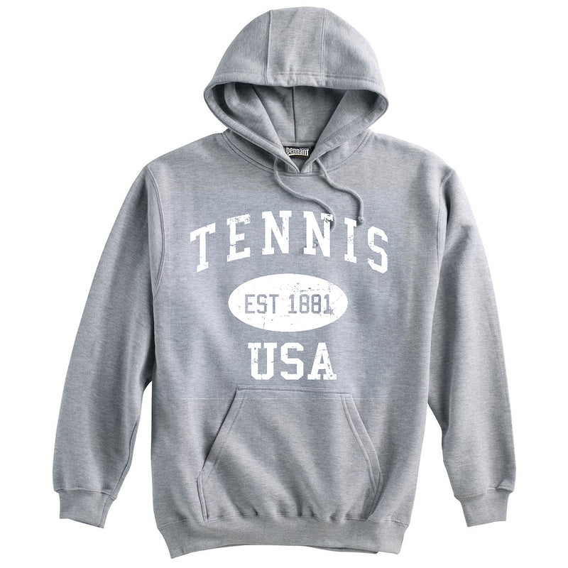 Tennis Sweatshirt-Vintage Distressed Established Date USA