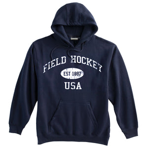 Field Hockey Sweatshirt-Vintage Distressed Established Date USA