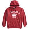 Gymnastics Sweatshirt-Vintage Distressed Established Date USA