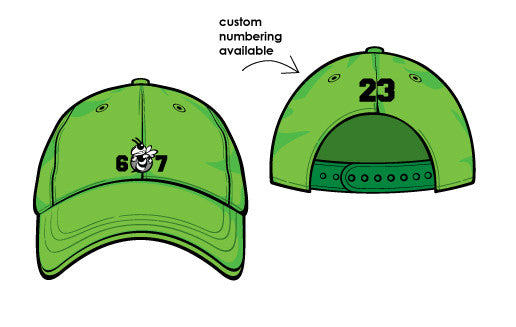 Glo Green Team 607 Cap