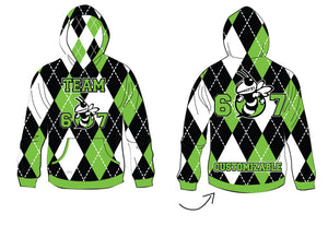 Team 607 Custom Sublimated Poly Bonded Hoodie