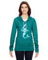Mermaid with Softball Bat Softball Eco Jersey Pullover Hoodie Animal Sports Collection