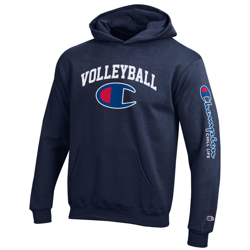 CHILL-LIFE and CHAMPION VOLLEYBALL HOODIE-NAVY