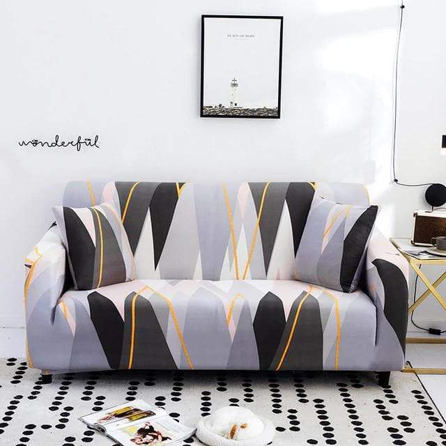 housse de canape grey stripes
