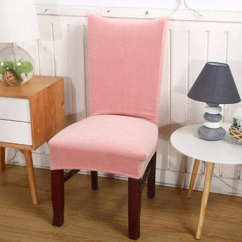 housse de chaise rose pale