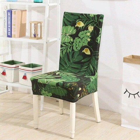 Housse de chaise tropicale
