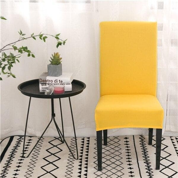 Housse de Chaise Jaune Moutarde