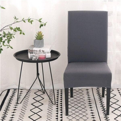 Housse de Chaise<br> Gris Anthracite