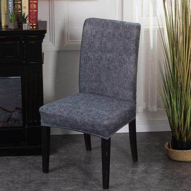 Housse de Chaise Gris Chiné