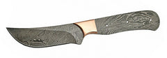 Cape Town Skinner Trailing Point Damascus with copper Bolster