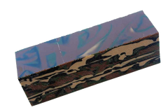 Woodland Camo Acrylic Game Call Blank
