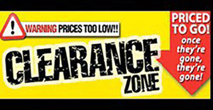 Clearance Items Huge Mark Downs All Items Must go Sale