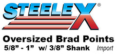 "Steelex Over-sized Brad Points with 3/8 Shank Reduced Shank 5/8 3/4"" 1"""