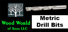 Wood World Of Texas LLC Metric Brill Bits Brad Point and Parabolic Point