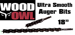 "Wood owl Ultra Smooth 18"" Auger Bits"