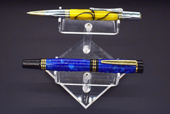 Acrylic Pen Display - Holds 2 Pens - 2 Tiered