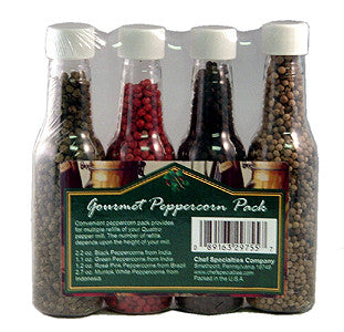 Gourmet Grinds 4 Pepper Refill Pack - WoodWorld of Texas