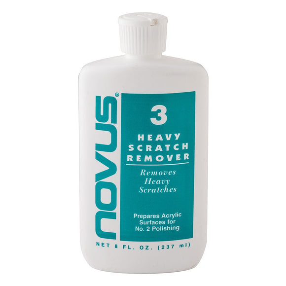 Novus Plastics Polish #3: Heavy Scratch Remover - 8 oz