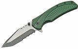 "4.5"" MILITARY FOLDING KNFE WITH GREEN G10 HANDLE Limited Edition"