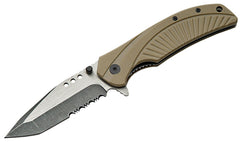 "4.5"" MILITARY FOLDING KNFE WITH TAN G10 HANDLE Limited Edition"