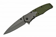 "4.5"" G-10 GREEN BIO-HAZARD FOLDING KNIFE Limited Edition"