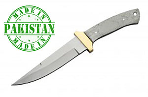 "Economy - 10"" Bayonet Bowie Blade W/ Brass Gaurd - WoodWorld of Texas"