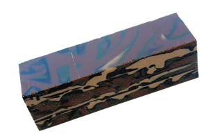 "Woodland Camo 1.5"" x 1.5"" x 6"" Acrylic Bottle Stopper Blank"