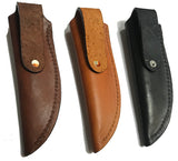 "Knife Sheath Tooled Leather - SH350 - 1 5/8"" opening and a 5 3/4"" length - Hand Made in USA"