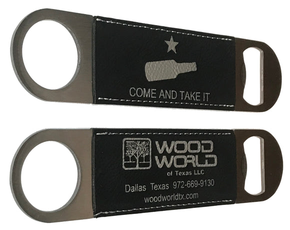 Wood World * Come and Take It * Bartender Style Bottle Opener